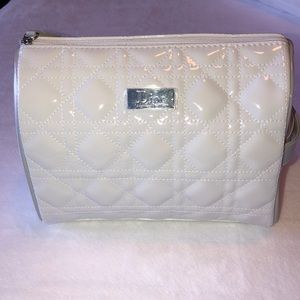 NWOT! Dior Cosmetic Bag - White and Gray Patent